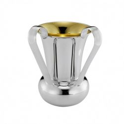 Plain Italian Sterling Silver Washing Cup